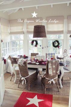 Letzte Woche kam eine Einladung vom Farmhouse  zu einem Christmas Event, The Aspen Winter Lodge.   Heute war es dann soweit :o)   Das H...