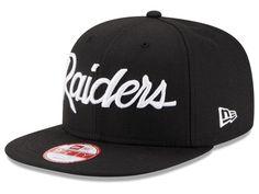 081721cb179 Oakland Raiders New Era NFL LIDS 20th Anniversary Script 9FIFTY Snapback  Cap New Era Cap