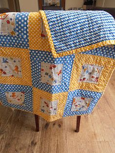 3-color baby quilt : cute, quick way ro highlight a special fabric