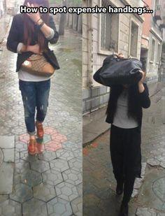 how to spot an expensive handbag