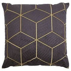 buy fox ivy geo embroidery cushion from our fox ivy. Black Bedroom Furniture Sets. Home Design Ideas