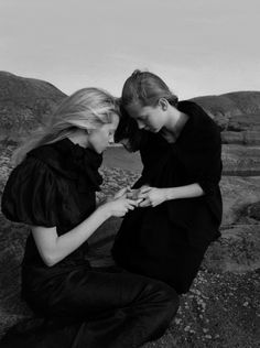 Milana Bogolepova and Sasha Gachulincova in Vogue Nippon 2006 by Yelena Yemchuk