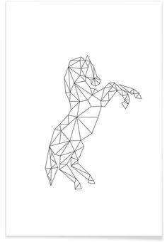 Geometric Horse als Premium Poster von RK Design | JUNIQE