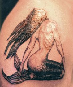 love this mermaid tattoo concept