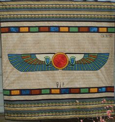 Egyptian quilt by ann_champion, via Flickr