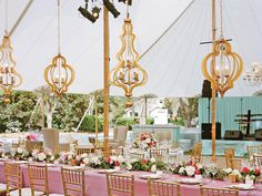 Gold Moroccan-themed chandeliers
