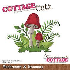 ****  Cottage Cutz Mushrooms & Greenery