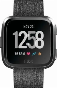 d2e02a8455c Brand New Sealed in Box Fitbit Versa Special Edition Charcoal Band Graphite  Case