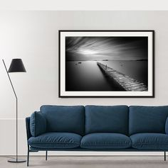 """""""The pier"""", classy framed on a white wall... Classic rocks.. #galerieartefactum #lanscape #blackwhite #photography #homedecor #livingwithart"""