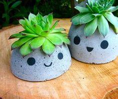 the cutest concrete planter DIY