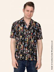 Men's Short-Sleeved Day Of The Dead Shirt
