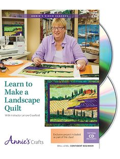 Award-winning quilter and fabric artist Lenore Crawford has created a simply amazing technique to create realistic-looking quilts from photographs. Her easy-to-learn technique includes creating a pattern from a photograph, building a palette of fabrics that match the photo, cutting and fusing the pieces together, and then adding small painted details to add depth and dimension before quilting.