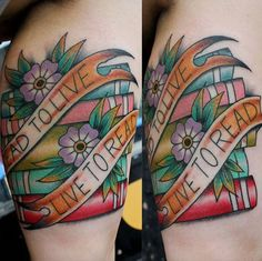 Book Tattoo Design by Pain & Wonder