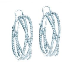 Birks Rosée du Matin® Criss-Cross Diamond Earring