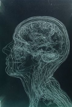 Layered MRI Self-Portraits Engraved in Glass Sheets by Angela Palmer