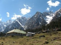 Yumthang valley with Himalayas in the back ground.