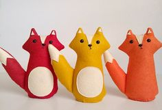 for my far and distant future child. lol.    handmade plush orange fox, Owen, Made to Order $28