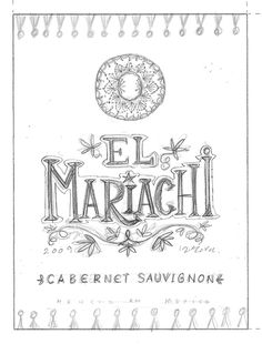 Wine labels packaging and neck-hangers for Mexican wine collection El Mariachi by IKON BC