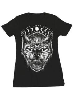 "Women's ""Night Howl"" Tee by Black Hope Curse (Black) #inkedshop #graphictee #fashion #top #art"