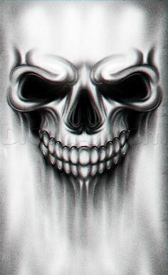A Skull Tattoo Drawing Tutorial Step by Step Tattoos Pop Culture FREE Online Drawing Tutorial Added by Dawn August 1 2015 5 07 40 am # Evil Skull Tattoo, Skull Tattoo Design, Tattoo Design Drawings, Skull Design, Skull Tattoos, Tattoo Sketches, Body Art Tattoos, Sleeve Tattoos, Drawing Tattoos