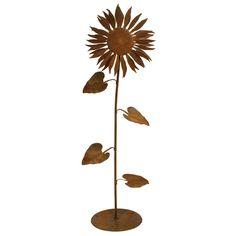 Small Sun Flower Garden Sculpture