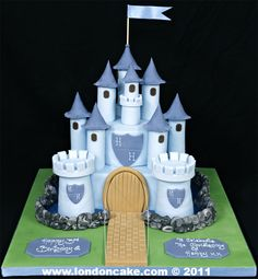 Google Image Result for http://londoncake.com/images/Castles/004103%2520Baby%2520Blue%2520covered%2520Castle%2520for%2520a%2520Birthday%2520and%2520Christening%2520Cake.jpg