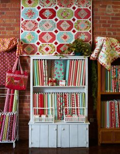 """Grounded in the """"air capital of the world,"""" Wichita, Kansas, the Material Girls Quilt Shoppe is reaching new heights."""