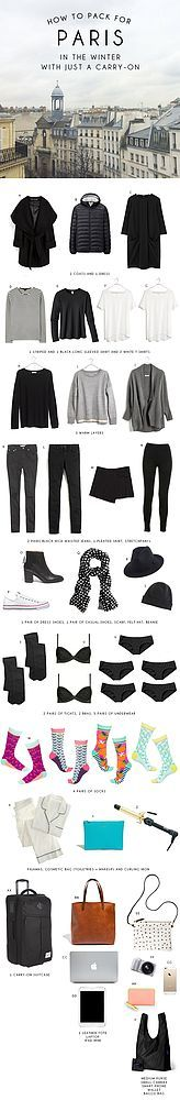 How to Pack for Paris in the Winter with Just a Carry-On Bag... | Oh Happy Day! | Bloglovin'