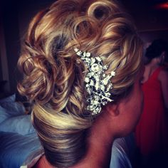 Wedding updo by me:)