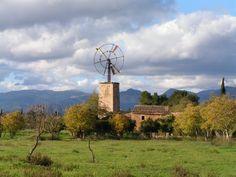 Windmill in Binissalem, Majorca, Spain