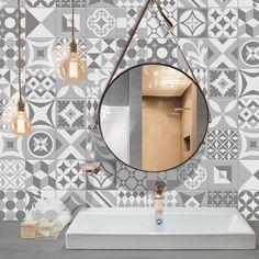 Smart Tiles Vintage Gallo Mosaic Gray Peel And Stick Backsplash
