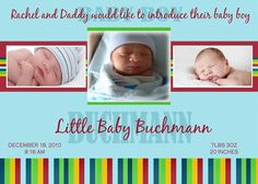 Rainbow baby announcement Rainbow Baby Announcement, Baby Birth, Little Babies, Paper Goods, Primary Colors, Daddy, Baby Boy, Invitations, Digital