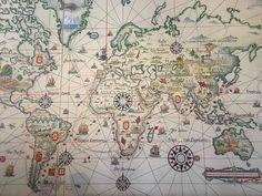 """""""ポルトガルが調子に乗っていた大航海時代の地図。 #ポルトガル"""""""