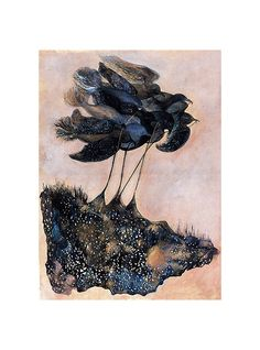 SALE Fragments of MidnightLimited Edition by elisemahanfineart, $28.00 #birds #abstract #NightSky