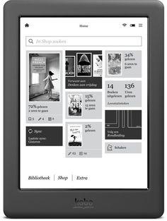 bol.com | Kobo Glo HD - Zwart - e-reader | Elektronica