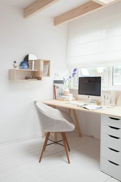 mobilier bureau contemporain, petit office scandinave