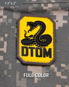 7618a9af19c3 DTOM Morale Patch - Full Color - Express your individuality with our  collection of Morale Patches
