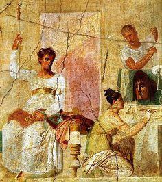 Pompeii wall art #pompei #vesuvius #fresco #mosaic #ancient #Pompeii  www.bbfauno.com