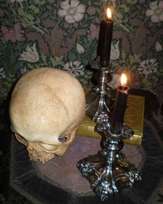 $12.50 Gothic Decor - Vintage Ornate Silverplate Candlesticks