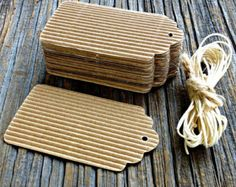 Gift tags made from Corrugated Packaging Paper Animal Crafts, Animal Crafts For Kids, Paper Crafts For Kids, Corrugated Packaging, Cardboard Packaging, Cardboard Furniture, Cardboard Crafts, Cardboard Playhouse, Bead Storage