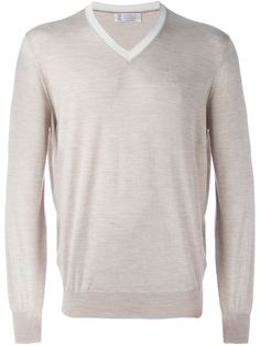 Shop Brunello Cucinelli V-neck jumper   in Spinnaker 101 from the world's best independent boutiques at farfetch.com. Shop 400 boutiques at one address.