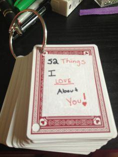 Boyfriend gift! DIY. A cute, sentimental gift. Remind him of all the reasons you love him!