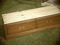 reinforcing the bottom of the mudroom bench from dresser