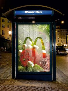 Salad in a poster