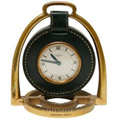 Stirrup Clock by Paul Dupre Lafon for Hermes