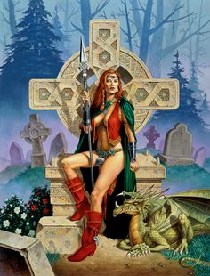 Clyde Caldwell  - Celtic Princess