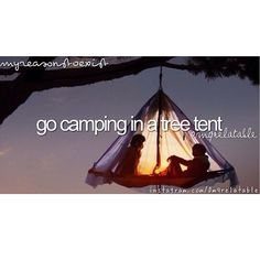 Go camping in tree tents Tree Tent, Go Camping, Good Old, Life Goals, Tents, The Great Outdoors, Bucket, Journey, Type