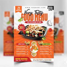 Food Graphic Design, Food Menu Design, Food Poster Design, Restaurant Menu Design, Restaurant Recipes, Food Menu Template, Menu Templates, Templates Free, Brochure Food