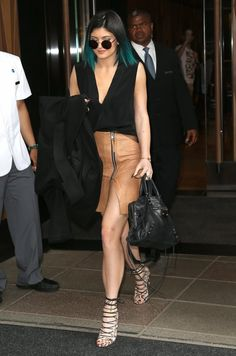 Kylie Jenner Fashion Style — June 3, 2014- Kylie Jenner leaving her hotel in...