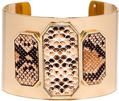 Faux Snakeskin Detail Cuff Bracelet on shopstyle.com